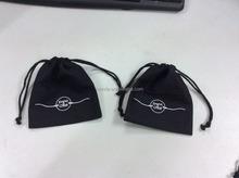 China suppliers wholesale black cotton drawstring bag