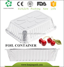 Rectangle disposable aluminum foil food tray