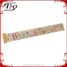 party favors multicolor Baby Shower laser foil banner