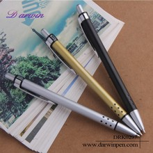 Custom logo factory price 3 colours metal clip ball pen