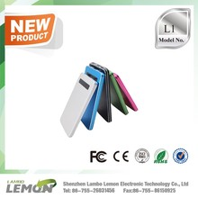 L1 slim compact new design fashion mobile Li-polymer portable external power bank 5000mah