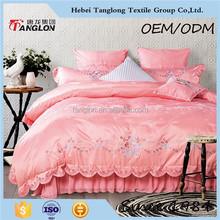 Fashionable flowers printed bedding sheet set European Style Export design cotton bedding set
