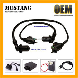 Pack of Racing Ignition Coil + 5 Pins Cdi Box + 3 Electrode Spark Plug for Chinese Made 50c 70cc 90cc 110cc 125cc Dirt Bike Atv