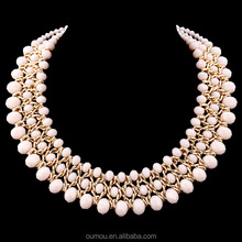 Bead Jewellery, Handmade Knitting Fashion Chunky Bead Necklace, Fashion Jewelry China Wholesale