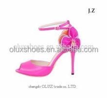 OS19 new design girls fashion red sandal woman sandal for 2014