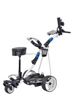 FOLDING DIGITAL ELECTRIC GOLF TROLLEY CADDY CART BUGGY WITH LITHIUM BATTERY