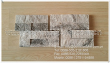 providing decorative stone for tv wall