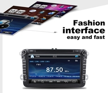 8'' touch screen car dvd player radio stereo for vw universal car with gps bluetooth dvd usb sd aux in
