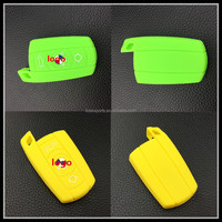 2015 High qulaity 3d embossed logo car key case for bmw fob key cover silicone