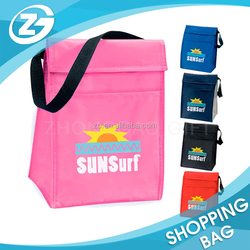 Fashionable customized laminated non woven tote lunch Wine bottle cooler bag Promotional cheap Medical ice bag