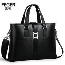 Black famous brand real leather bags men handbag wholesale