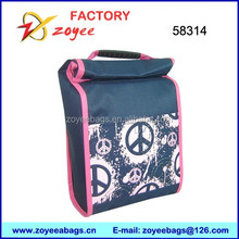 blue peace lunch bag tote Cooler Bag for kids zoyeebags