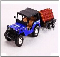 22CM cheap plastic load logging china toys car truck for kids