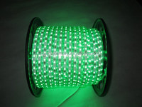 110V 220V 100m 13mm 2wire /3wire round green color flexible Led rope light For Europe