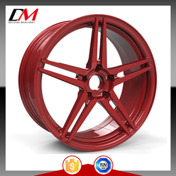 red forged 18 inch aluminum wheels for aftermarkets