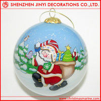 Painted Christmas ball with snow flake