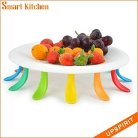 2015 new design hot fashion and cute coloured fruit plate
