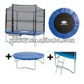 8FT trampolín con red de seguridad, Escalera