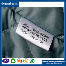 Eco-friendly cotton vinyl factory direct sell polyester washable clothing label