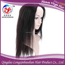 2015 Qingdao Factory Supply 12 Inch Straight Virgin Brazilian Glueless Front Lace Wig, Clip In Front Lace Wig