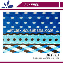 dot and check printed fabric flannel with edges for blanket