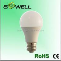 7W E27 2835SMD Plastic+Aluminum indoor CE/RoHS A60 LED lighting bulbs