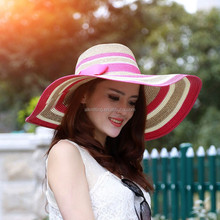 2015 ladies hats fashion mixture paper braid floppy hat straw hats