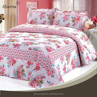 Hot selling satin king size kantha quilt set wholesale