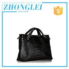 Custom Printed Logo Price Cutting Lady Travel Leather Bag