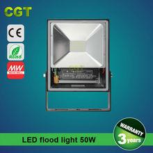 Led flood light 50W IP65 outdoor waterproof UL/MEANWELL driver 50W led flood light