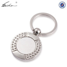 Round Shape Wholesale Custom Blank Metal Keychain