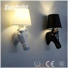 New minimalist genre trend decorations,horse head home decorations,LED light resin horse head lamp decor