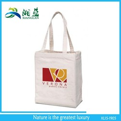 chinese shopping bag, cotton gusset tote bag, cotton shopper bag with gusset