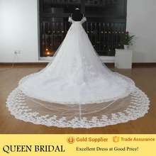 Real Pictures Heavy Beaded Crystal Ball Gown Wedding Dresses with Detachable Train