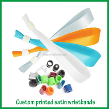 Hot sale wristbands with metal crimp for festival and events gifts
