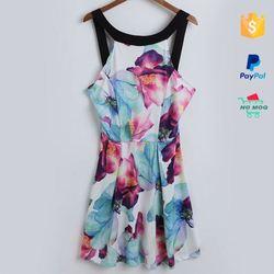 Bulk Stocks Cheap Women Casual One Piece Dress In Floral Print