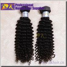 Guangzhou DK Natural color Top Grade Mongolian Virgin Human Hair Deep Curly weave in nigeria