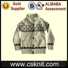 European style heavy wool cardigan mens sweater