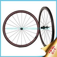Super lightl!! 2015 YISHUNBIKE 700C carbon road bike wheels titanium carbon 38mm tubular high end carbon wheels SL38T(C+T)