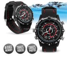 Factory price ! camera WATCH 720*480 waterproof hidden dvr watch with 4G/8G/16G option