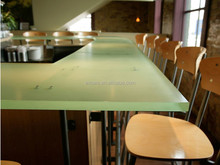 Luxface resin panels | Luxface translucent resin | Restaurant tables