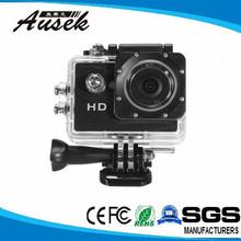 CE ROHS hd 720p manual mini action sport camera dv SJ4000 support Micro 32GB SD card