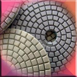 Sprial Diamond flexible polishing pad,wet pad(Spiral type, Velcro or Snailock Back )