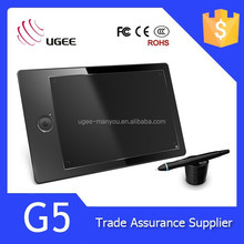 Ugee G5 graphic tablet 9x6 inches drawing pad 2048 levels writing tablet with 5080LPI