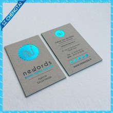 Elegant business cards printing with edges colored, made of thick cardboard