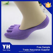 Wholesale custom combed cotton men women invisible socks