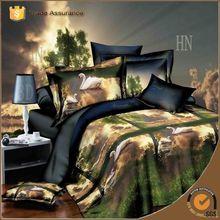 3d reactive printing branded print quilt cover set bedding set bed sheet set
