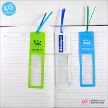 Cheap custom logo color printed pvc flat magnifying glass wholesale magnifying bookmark
