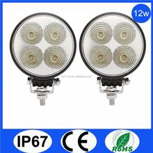 Automobiles led work light, 12w 12v 24v led work lamp