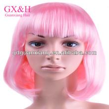 short light pink bob wig